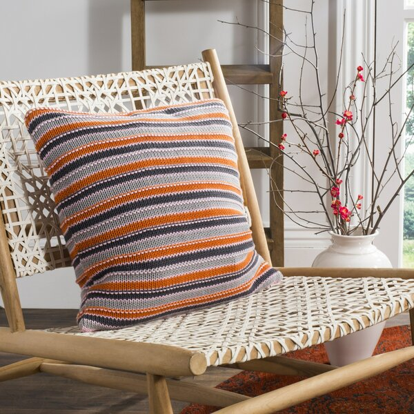 Canizales Stripe Knit 100% Cotton Throw Pillow by Latitude Run